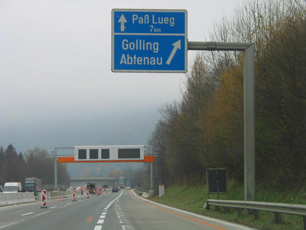 Family skiing region Dachstein West:  A10 exit Golling On the highway A10, comes after the departures Salzburg south, Hallein, Kuchl the departure Golling Abtenau . Here you leave the Tauern - highway.