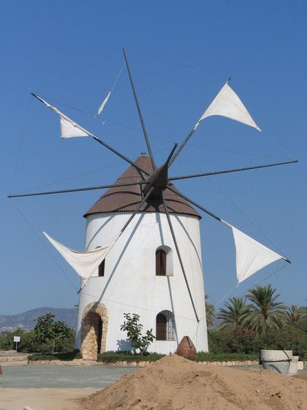 Don Quichotte wind mill Typical wind mill in the south of Spain. Very similarly could have looked the wind mills Don Quichotte from la Mancha once fought.