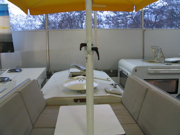 Roof terrace in the motorhome As a specific feature of the Alpha motorhome is a solar terrace built in the roof.