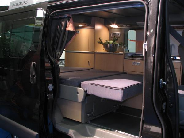 Renault Trafic Camping Conversions Rear Bed