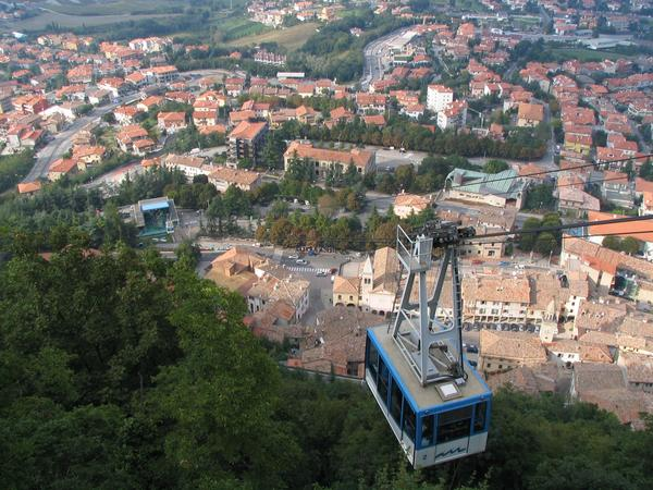 Funicular toward San Marino From Borgo Magiore a funicular leads to San Marino. Borgo Maggiore and San Marino belong to 9 castles from those the republic San Marino exists.