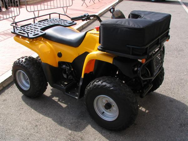 Quad Until now, was nature-pleasure and quad driving incompatibly. Now, it goes fortunately also quietly because electric. The real nature-friend puts only electric power produced by sun or wind into the tank.