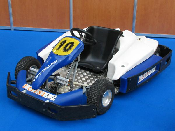 Electric kart On the left rear in the exhibition hall in the Grimaldi forum was a kart racetrack. I thought if there sometimes a presentation is I will certainly hear it. Wrong thought!.