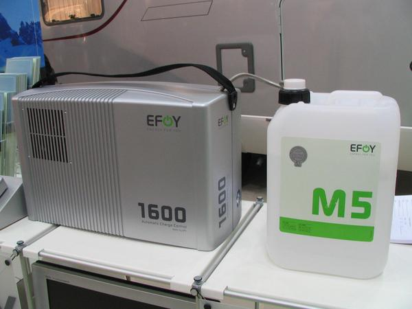 Methanol fuel cell 1600 means not 1600 Watt but 1600 Wh per day. The end user price of 3699,-EUR shows regretfully very clear the status of the fuel cell development