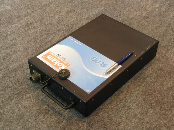 Bateria para fines militares. Esta bateria esta disenada para fines militares para comunicaciones en campos de batalla  . Tiene 29 V y 25 Ah.