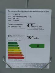 Toyota Prius Who fears the 130g CO2/km fleet limit. Toyota can sell for each 5 Prius one luxury limousine and one big SUV and would be still below the limit. Picture 1