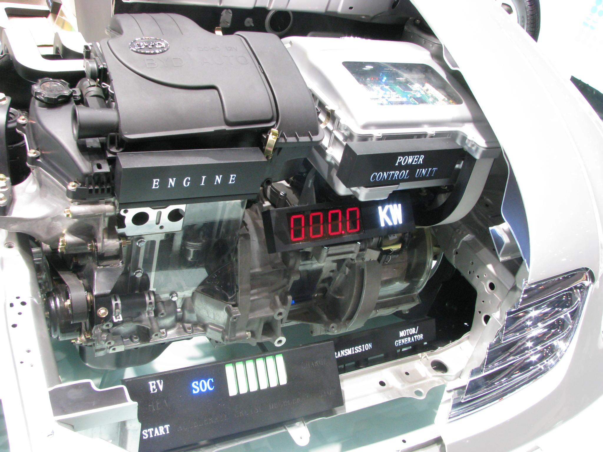 Motor in byd f3 dm for Hybrid car electric motor