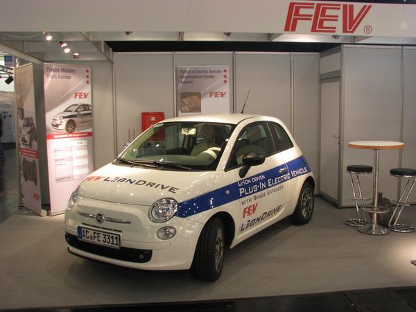 Fiat 500 Plug-in Hybrid The technic for a plug-in hybrid has also place in a small car like the Fiat 500. 115 km electric only, longer distances with a range extender before the rear axle.