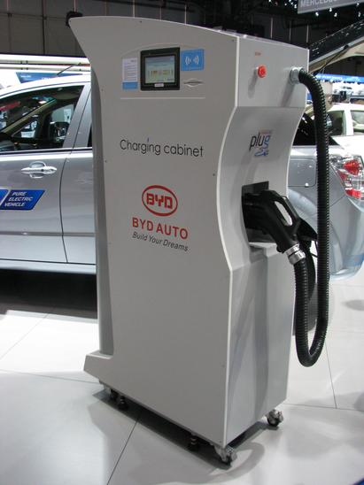 BYD Charging cabinet for quick charge Fast charging is only necessary at long range travels, continuous use as a cab or no power outlet at the parking lot.