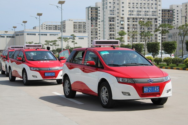 BYD e6 taxi fleet test in Shenzhen In a year