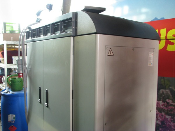 Charger for BYD electric bus This is a 100 kW charger. The next generation of BYD electric buses has the charger integrated and can be direct connected to three-phase current .